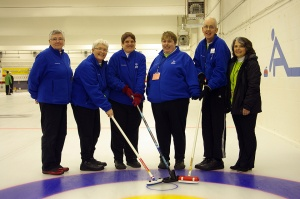Coach with Curling Team