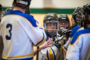 Floor Hockey Team Huddle